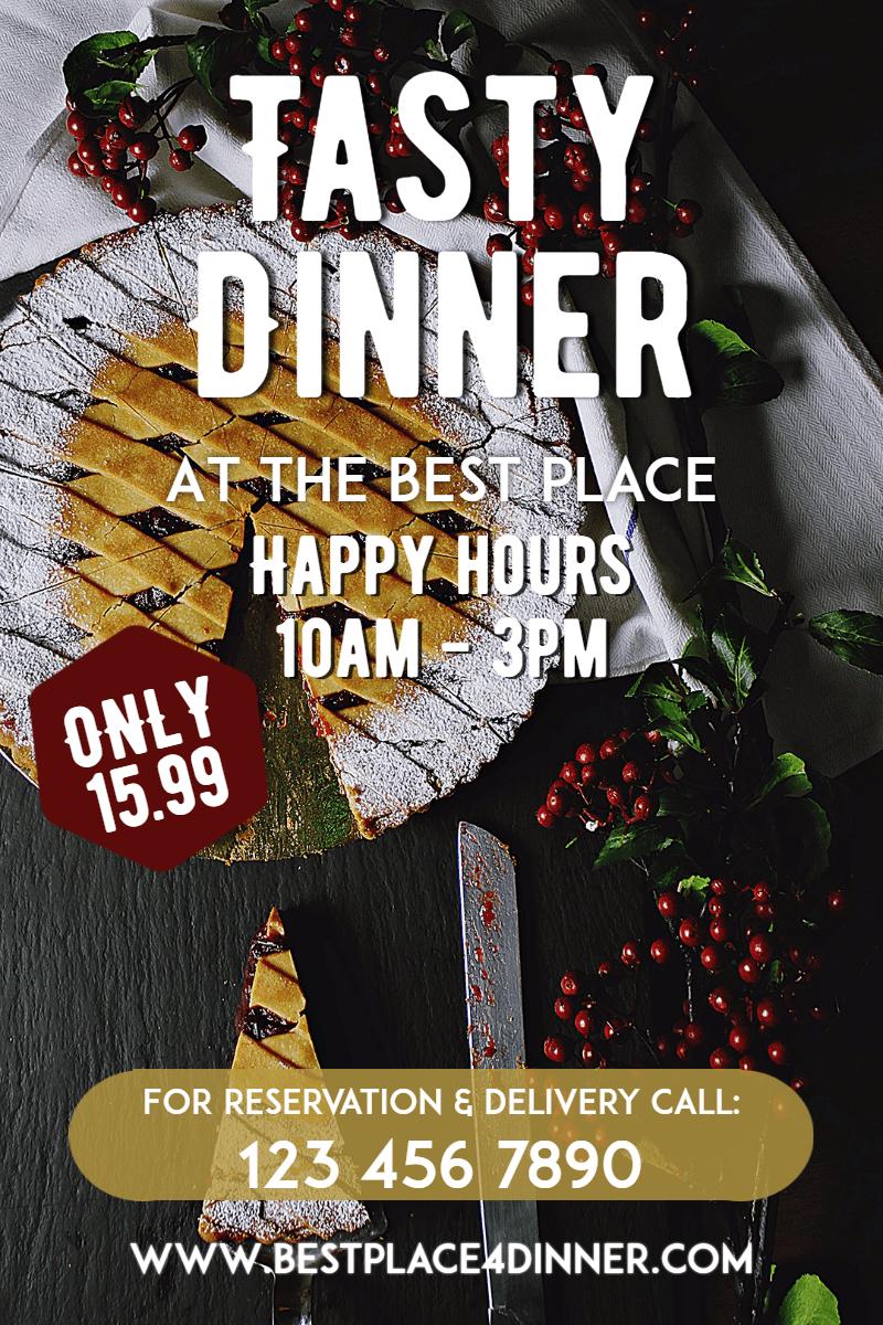 Advertising,                Font,                Poster,                Dinner,                Happy,                Food,                Restaurant,                Tasty,                White,                Black,                 Free Image