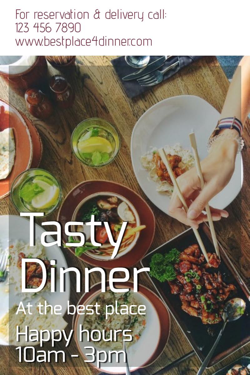 Tasty Dinner #poster #dinner #happy Design  Template