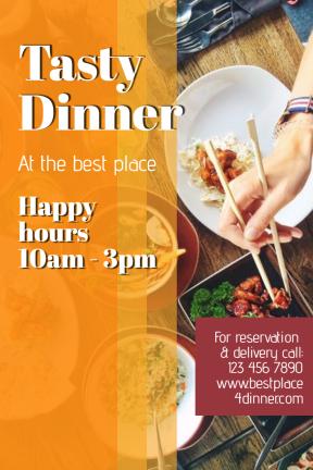 Tasty Dinner #poster #dinner #happy hours #food #restaurant #tasty