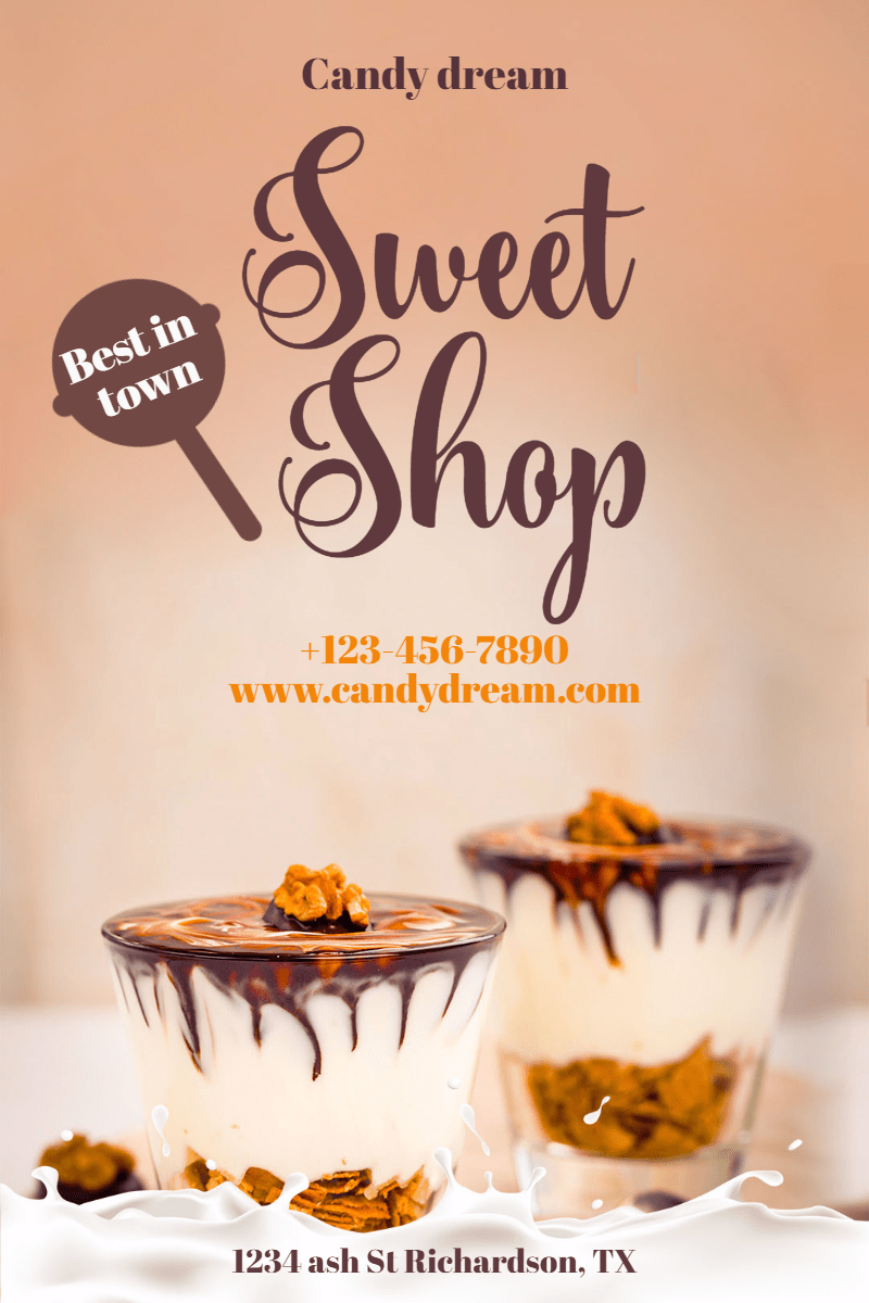 Candy Shop #candy #sweet #shop Design  Template