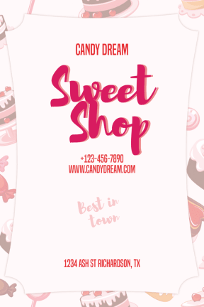 Candy Shop #candy #sweet #shop #business #chocolate #poster
