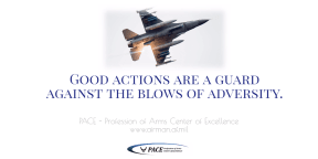 QOTD - Good Actions Are A Guard Against The Blows of Adversity