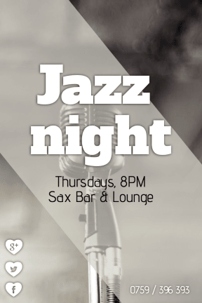 #poster #jazznight #promo #invitation