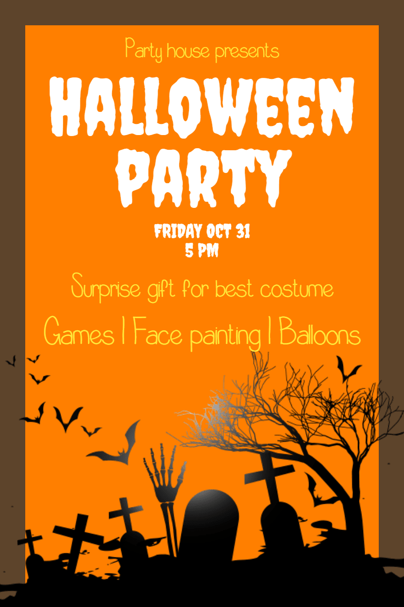 Text,                Poster,                Orange,                Font,                Advertising,                Graphic,                Design,                Illustration,                Graphics,                Party,                Halloween,                Kids,                Fun,                 Free Image