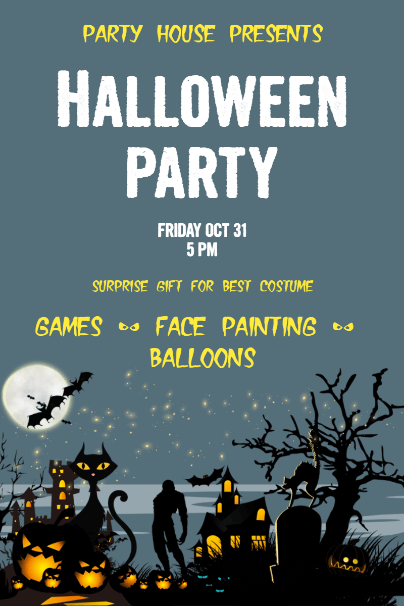 Halloween party #party #halloween Design  Template