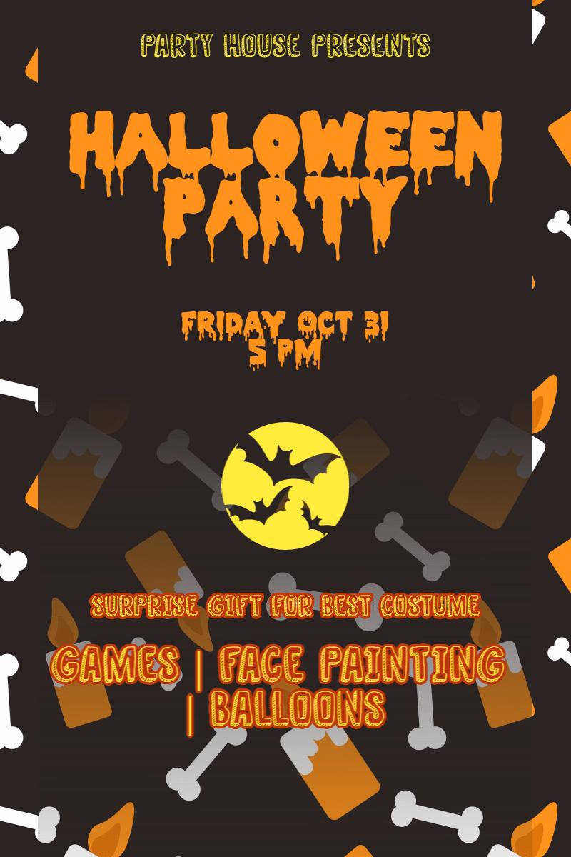 Halloween party #party #halloween Design  Template