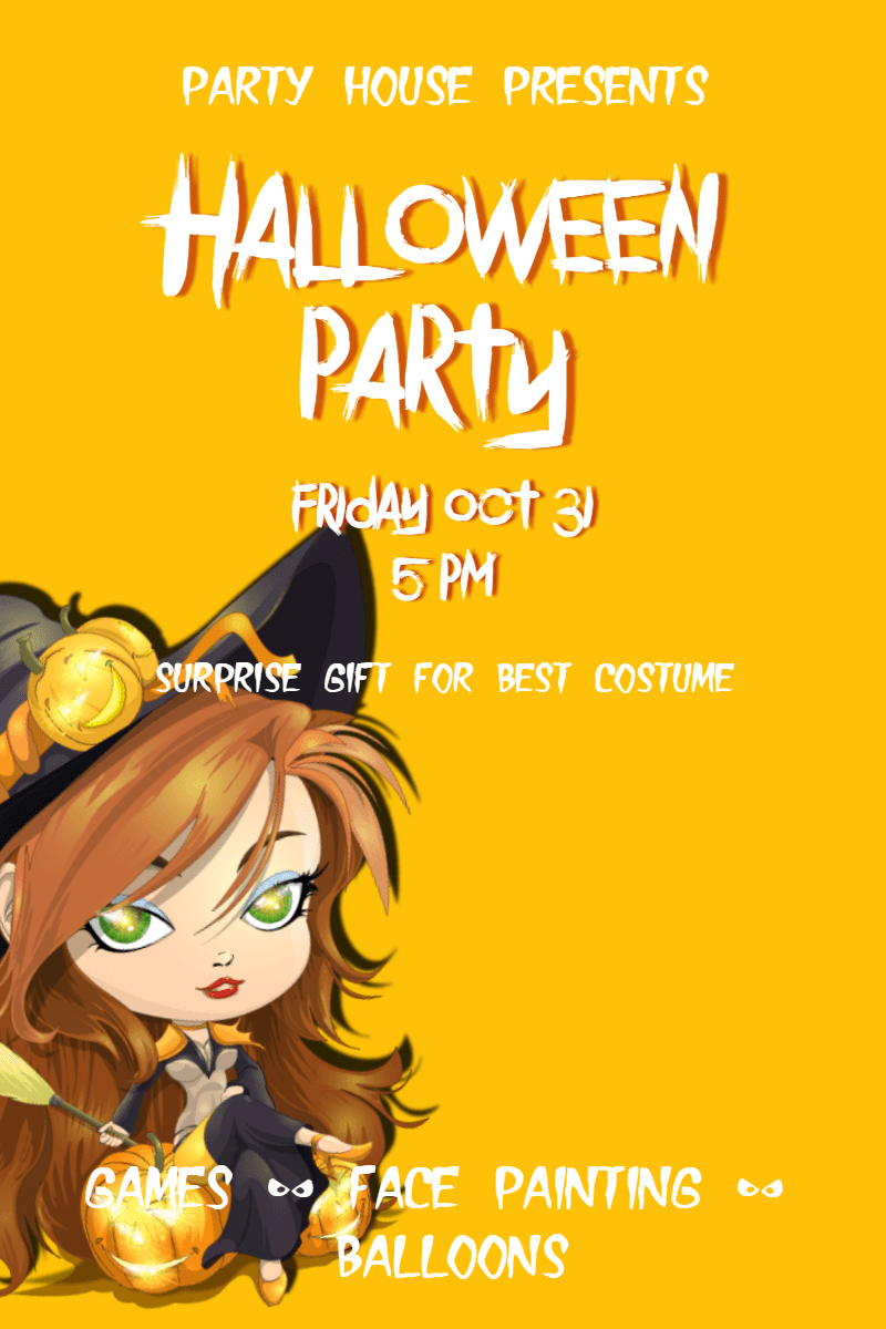 Yellow,                Text,                Cartoon,                Poster,                Font,                Advertising,                Illustration,                Fiction,                Happiness,                Graphics,                Party,                Halloween,                Kids,                 Free Image