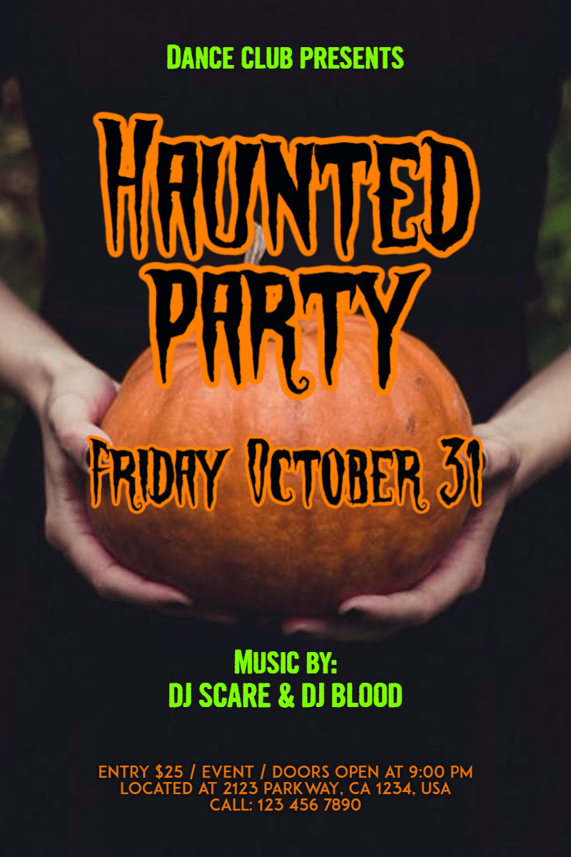 Text, Font, Advertising, Photo, Caption, Invitation, Halloween, Party, Dance, Fun, Haunted, Black, Red,  Free Image