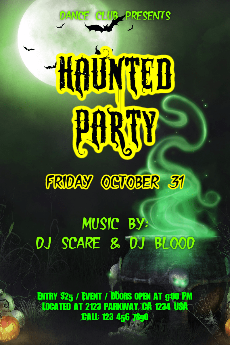 Text, Advertising, Font, Organism, Poster, Graphics, Graphic, Design, Invitation, Halloween, Party, Dance, Fun,  Free Image