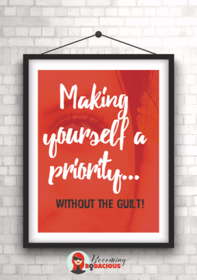 Make yourself a priority #frame