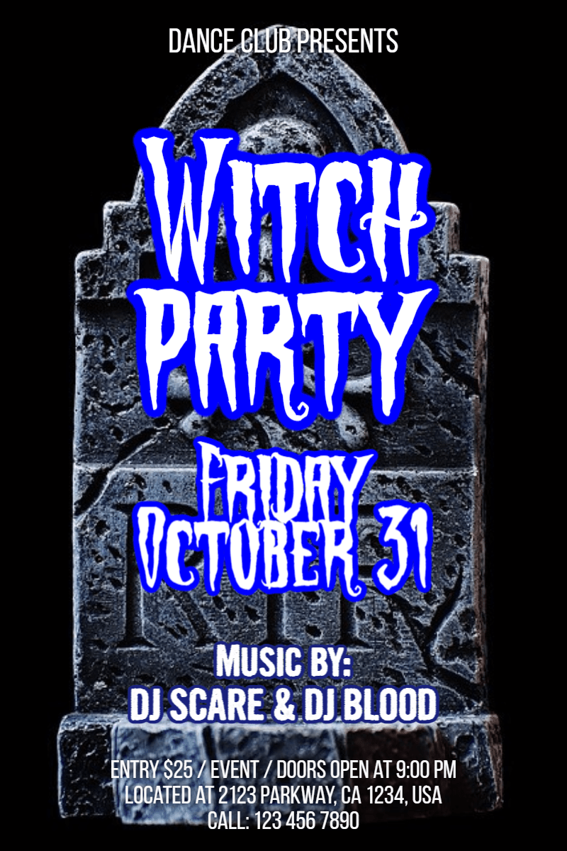 Text,                Advertising,                Font,                Poster,                Brand,                Invitation,                Halloween,                Party,                Dance,                Fun,                Haunted,                White,                Black,                 Free Image