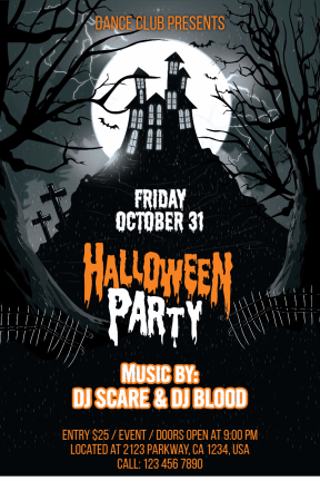 Halloween party #invitation #halloween #party #dance #fun #haunted