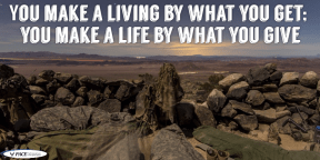#QOTD - You make a living by what you get; you make a life by what you give