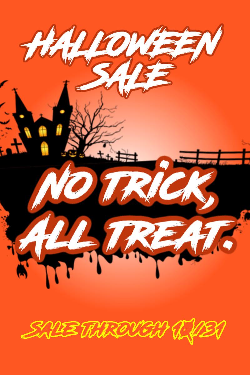 Halloween Sale #sale #poster Design  Template