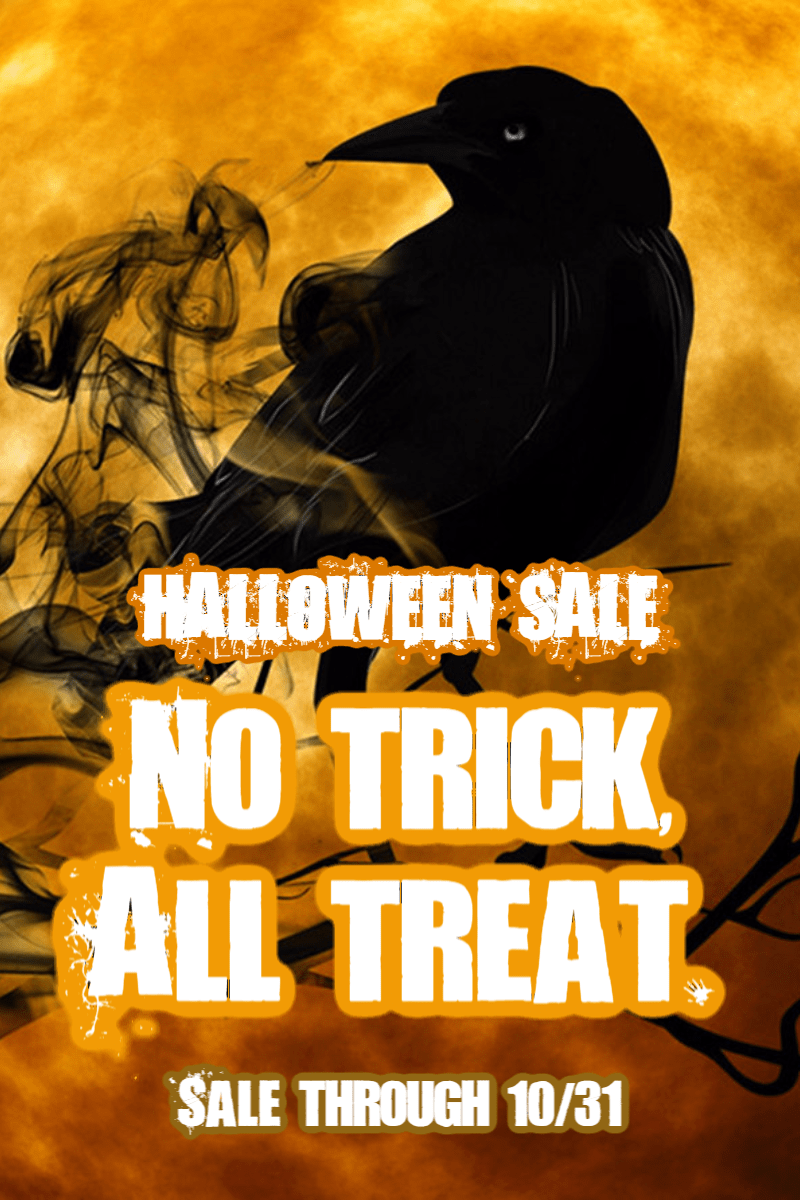 Halloween Sale #sale #poster Design  Template