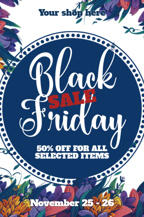 Black Friday #black friday #sale #black #poster #template #store