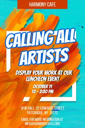 art event #event #invitation #poster #art #artists #cafe