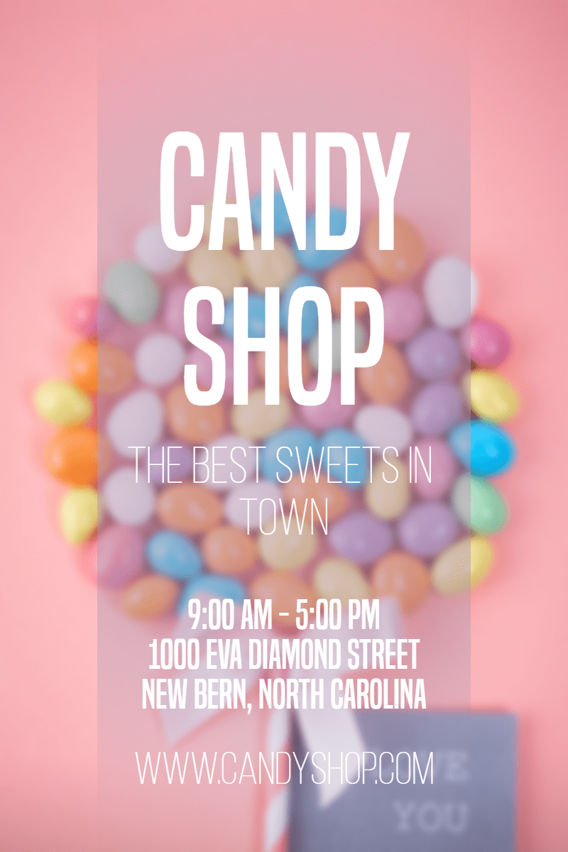 Candy shop #candy #shop #sweet #pink  Design  Template