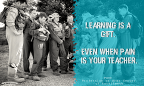 QOTD-Learning is a gift.Even when pain is your teacher.
