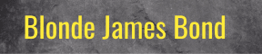 Blonde James Bond
