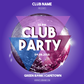 Club party #party #invitation #clubposter #poster #fun #dance #promo