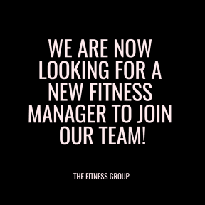 FITNESS MANAGER JOB