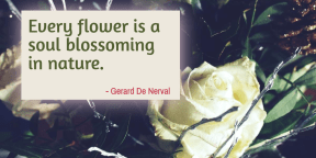 #poster #flower #quote #simple