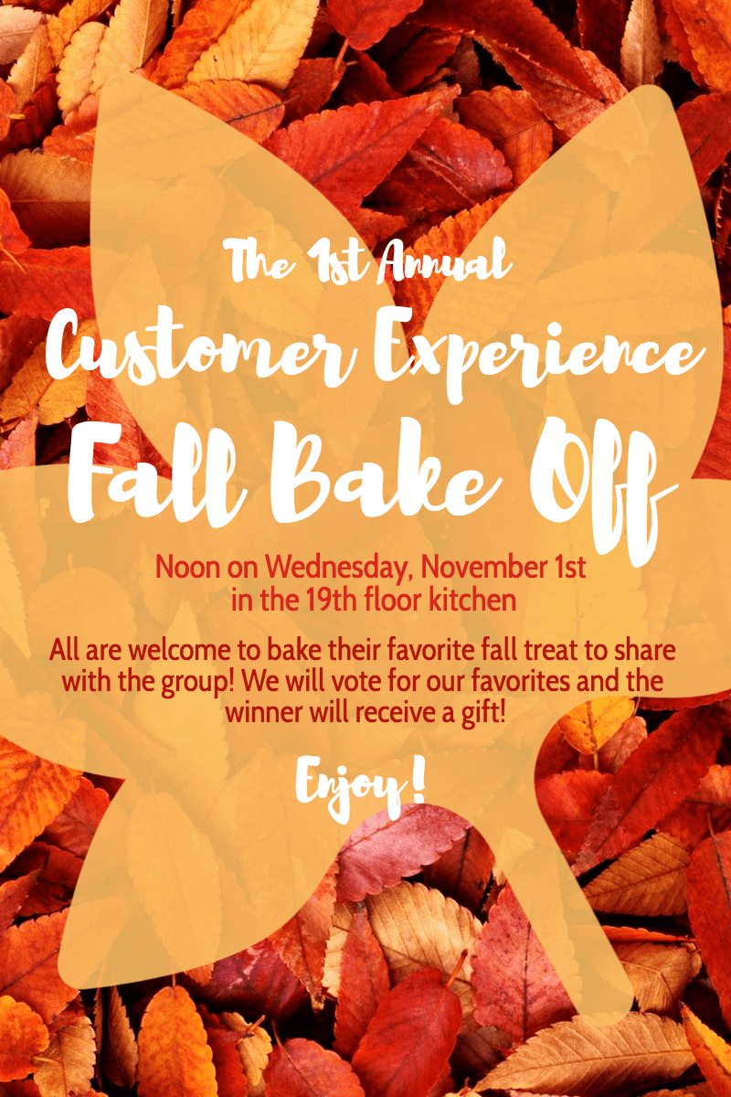 Invitation,                Poster,                Business,                Fall,                Autumn,                Bake,                Baking,                Yellow,                Red,                 Free Image