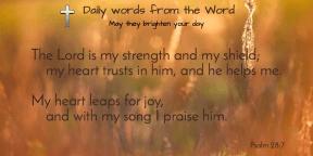 Psalm 33:4-6-t