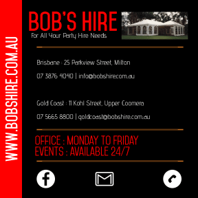 Bob's Hire Opening & Contact