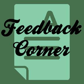 Feedback Corner