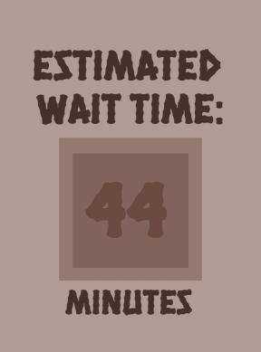 EST WAIT TIME