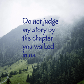 Don't Judge Quote