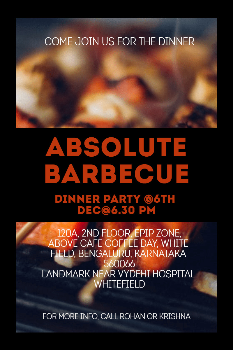 Invitation,                Grill,                Barbecue,                Food,                Bbq,                Party,                Black,                Red,                 Free Image