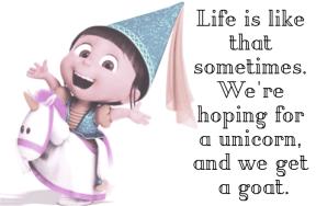 #life #Gru #DespicableMe3 #Agnes #unicorn #goat #hoping
