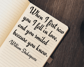 #love #first #smiled #you #me #youknew #Shakespeare