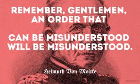 Von Moltke - will be misunderstood - wist_info quote