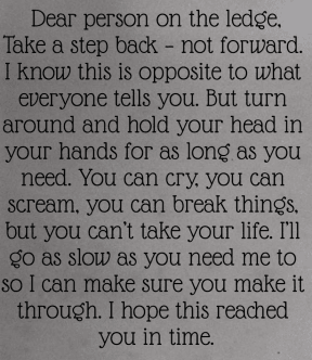 #person #letter #ledge #backwards #opposite #intime #loveyou #dontknowyou #slow #here