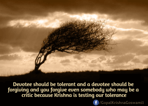 Devotee should be tolerant and a devotee