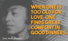 Hurston - Comfort in Good Dinners