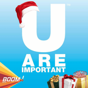 U ARE IMPORTANT CHRISTMAS