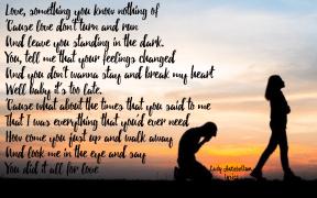 #LadyA #lyrics #AllForLove #walkaway #everything #turnandrun #toolate