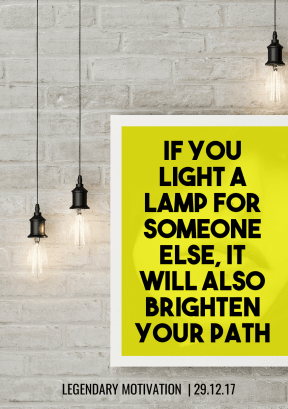 light a lamp - #quote #poster #mockup