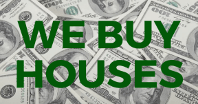 We Buy Houses - Cash Background
