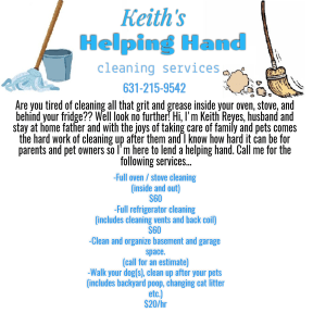 Keith's Helping Hand cleaning service