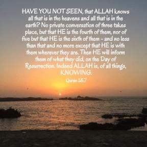 Quran 58:7
