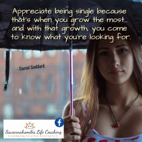 Appreciating being Single