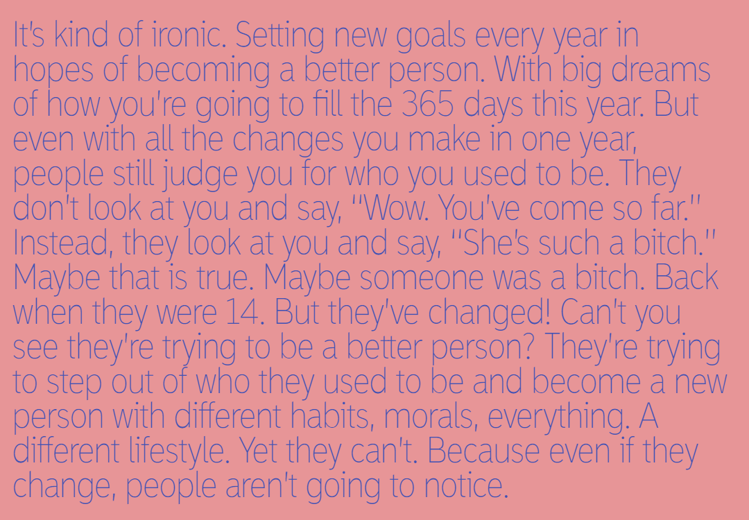 Ironic,                Newyear,                Goals,                Change,                Past,                Judge,                Different,                Secondchance,                White,                 Free Image