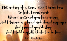 #Dan+Shay #lyrics #IHeardGoodbye #teardrops #numb #fadeaway #turnedaway #closedeyes #praying #please #stay #beok #missyou