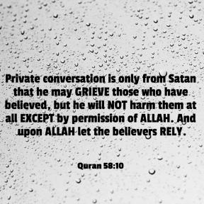 Quran 58:10